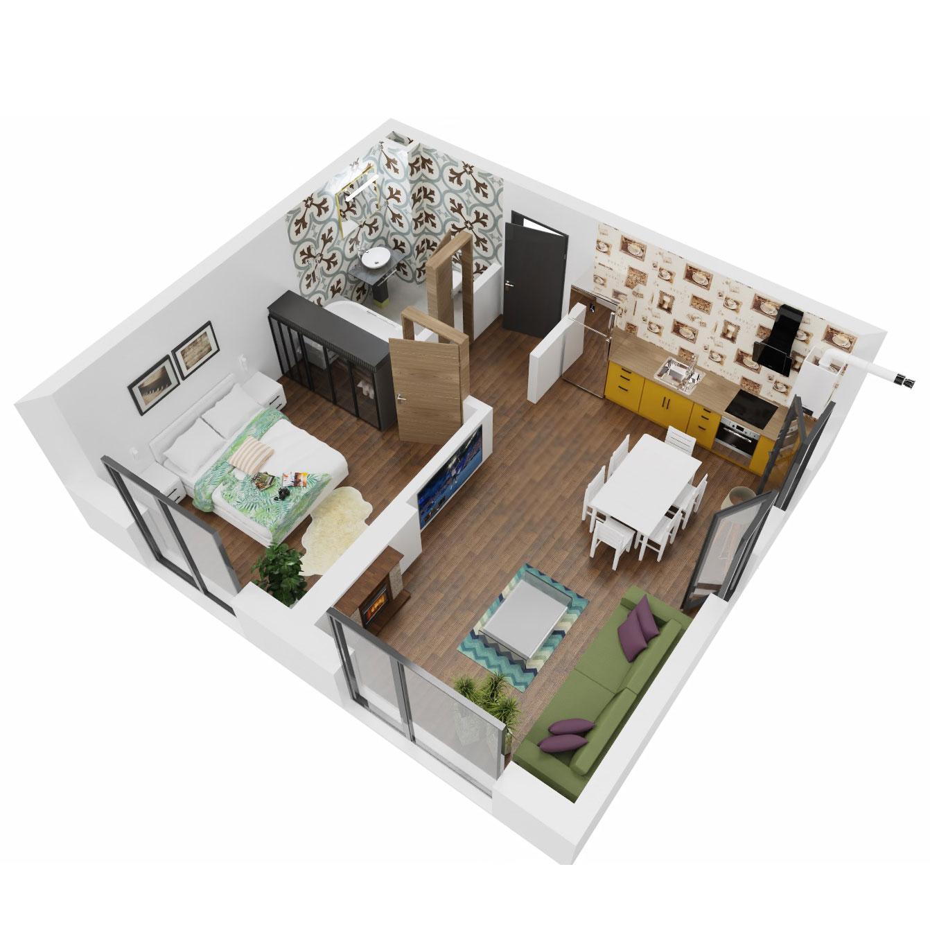 Apartament 2 camere de vanzare Bucuresti - Uverturii Residence - Militari - Lujerului - Gorjului - Tip 1 - T3 - A