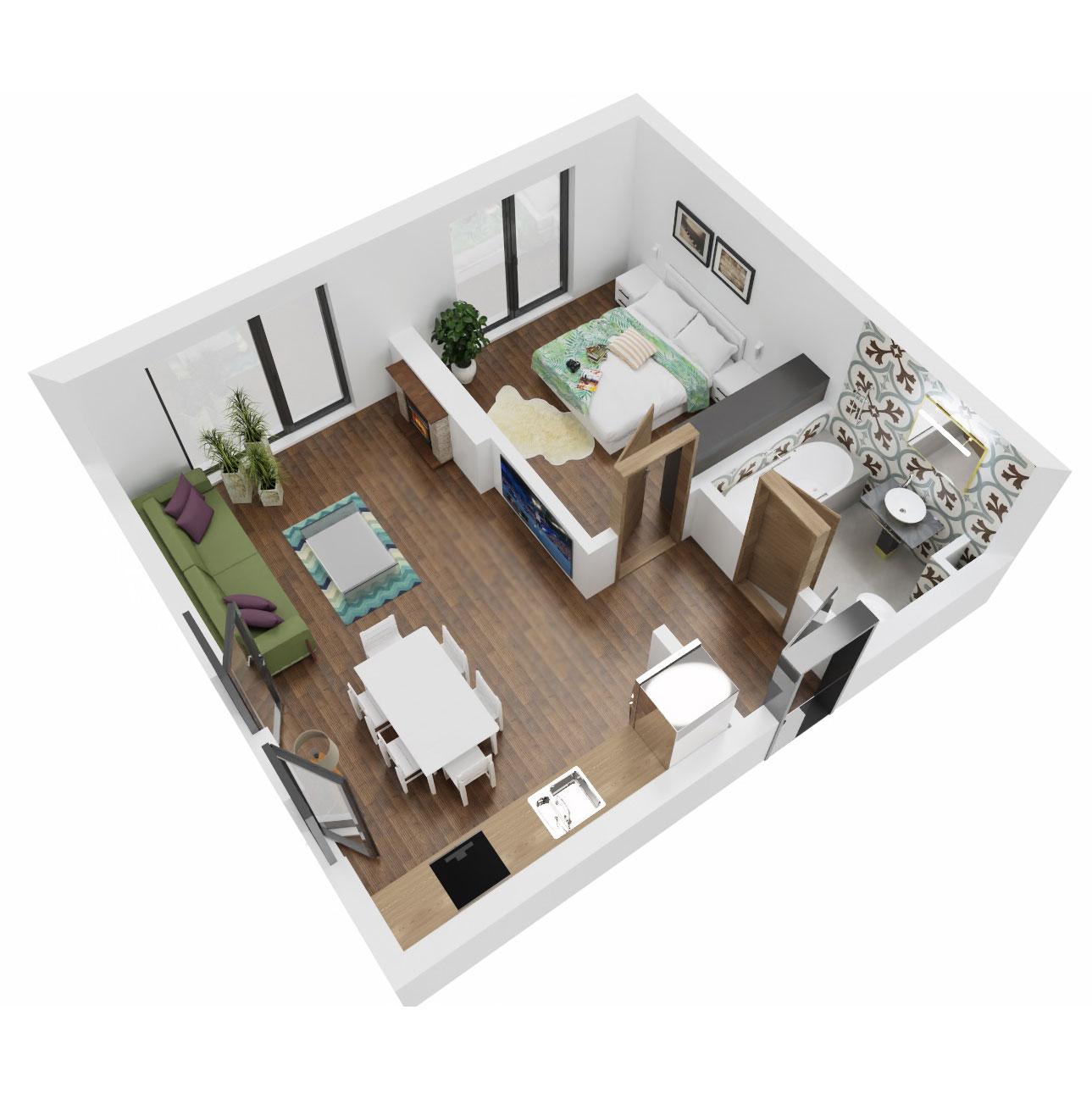 Apartament 2 camere de vanzare Bucuresti - Uverturii Residence - Militari - Lujerului - Gorjului - Tip 1 - T3 - B