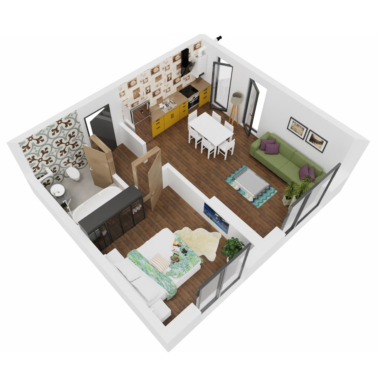 Apartament 2 camere de vanzare Bucuresti - Uverturii Residence - Militari - Lujerului - Gorjului - Tip 1 - T3 - C