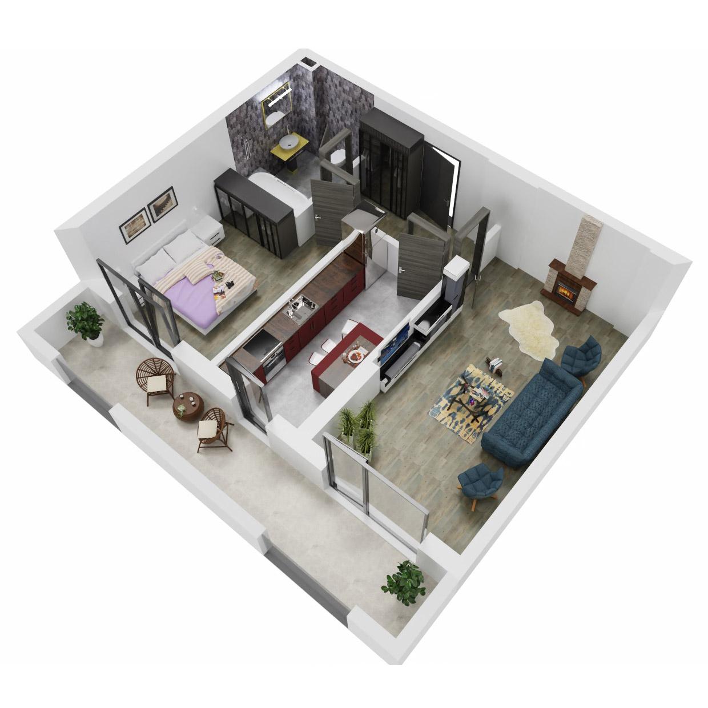 Apartament 2 camere de vanzare Bucuresti - Uverturii Residence - Militari - Lujerului - Gorjului - Tip 10 - T1 - A