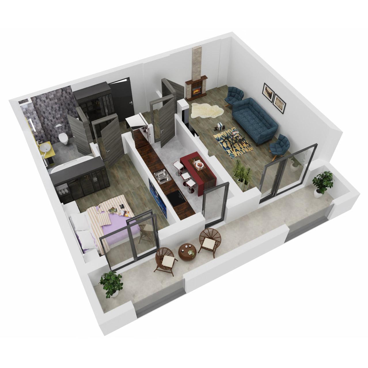 Apartament 2 camere de vanzare Bucuresti - Uverturii Residence - Militari - Lujerului - Gorjului - Tip 10 - T1 - C
