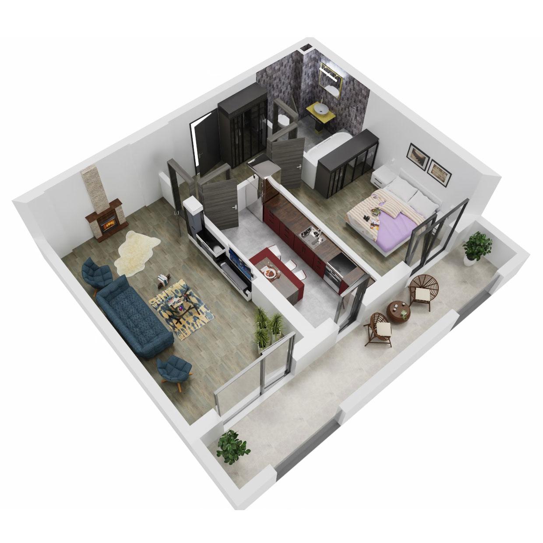 Apartament 2 camere de vanzare Bucuresti - Uverturii Residence - Militari - Lujerului - Gorjului - Tip 10 - T3 - A