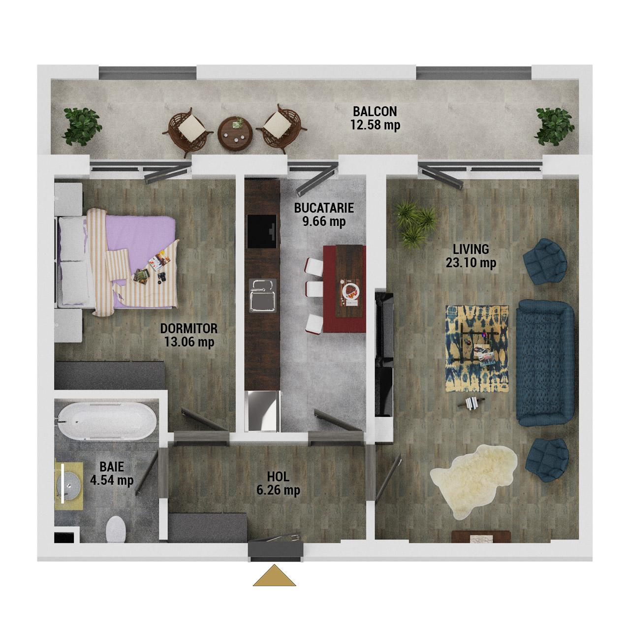 Apartament 2 camere de vanzare Bucuresti - Uverturii Residence - Militari - Lujerului - Gorjului - Tip 10 - T3 - E