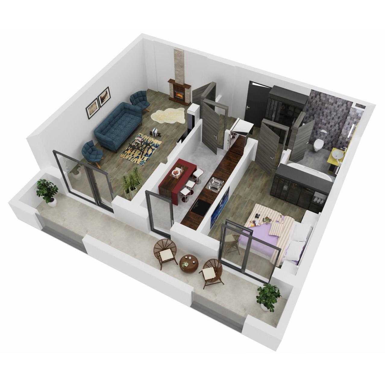 Apartament 2 camere de vanzare Bucuresti - Uverturii Residence - Militari - Lujerului - Gorjului - Tip 11 - T1 - C