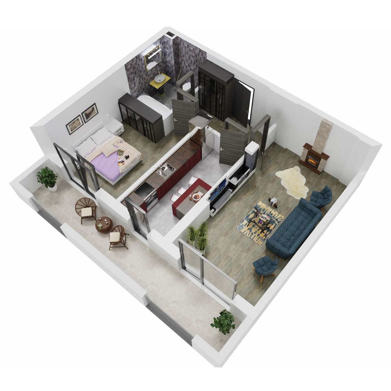 Apartament 2 camere de vanzare Bucuresti - Uverturii Residence - Militari - Lujerului - Gorjului - Tip 11 - T3 - A