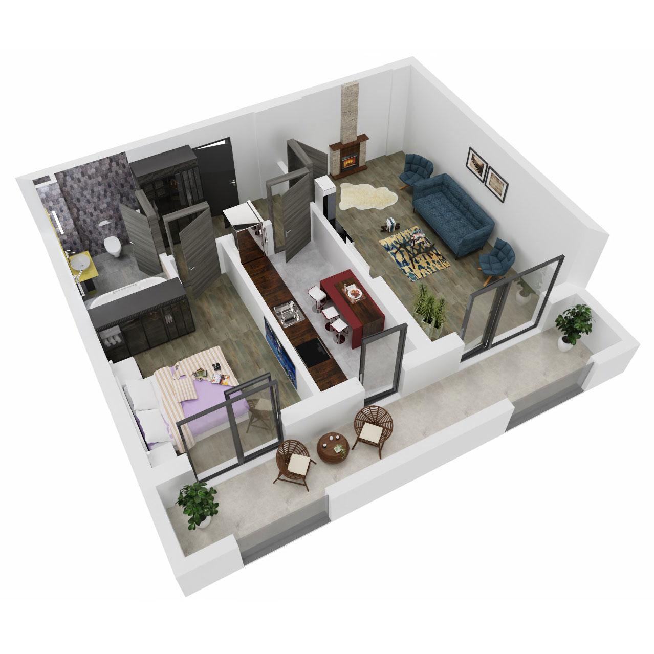 Apartament 2 camere de vanzare Bucuresti - Uverturii Residence - Militari - Lujerului - Gorjului - Tip 11 - T3 - C