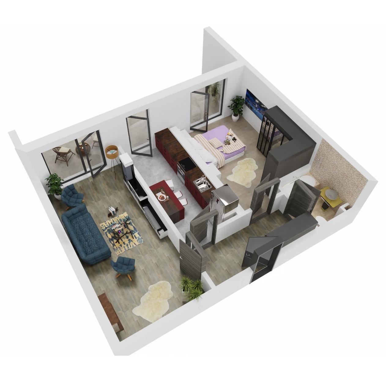 Apartament 2 camere de vanzare Bucuresti - Uverturii Residence - Militari - Lujerului - Gorjului - Tip 12 - T1 - C