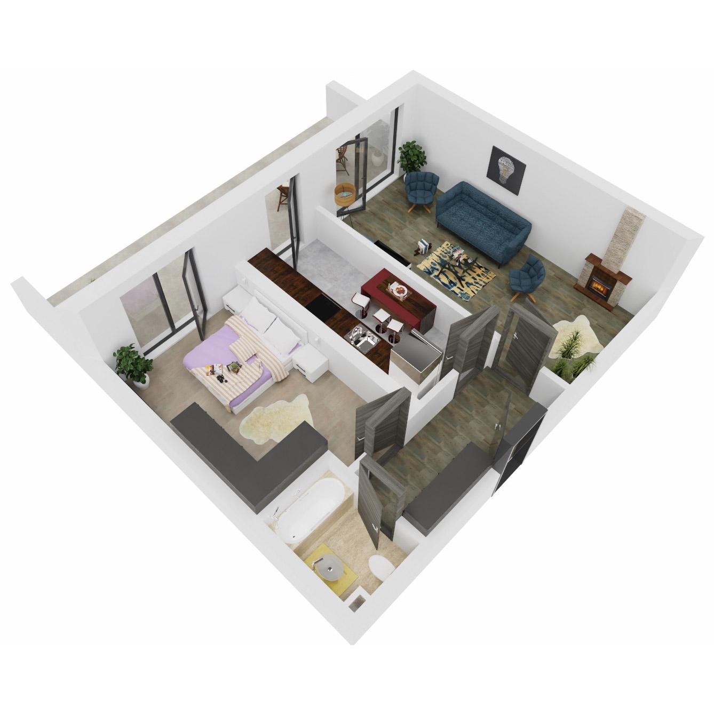 Apartament 2 camere de vanzare Bucuresti - Uverturii Residence - Militari - Lujerului - Gorjului - Tip 13 - T1 - B