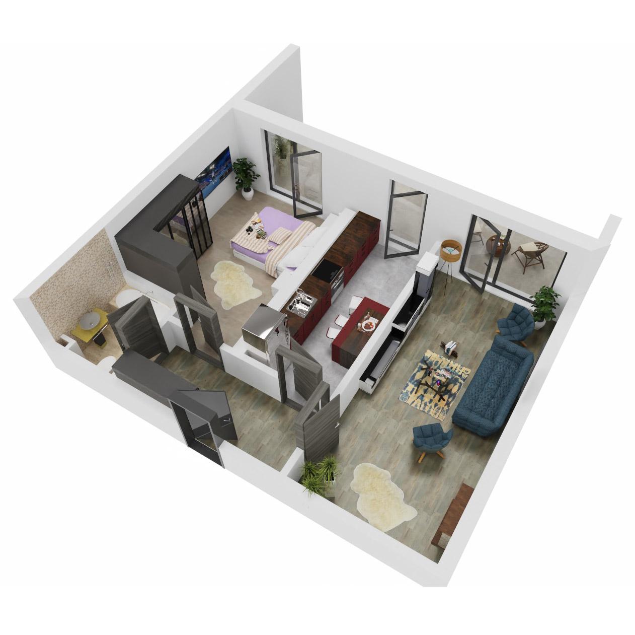Apartament 2 camere de vanzare Bucuresti - Uverturii Residence - Militari - Lujerului - Gorjului - Tip 13 - T1 - C