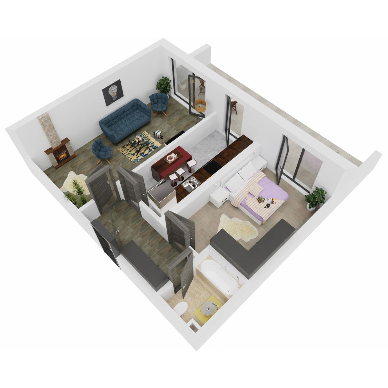 Apartament 2 camere de vanzare Bucuresti - Uverturii Residence - Militari - Lujerului - Gorjului - Tip 13 - T3 - B