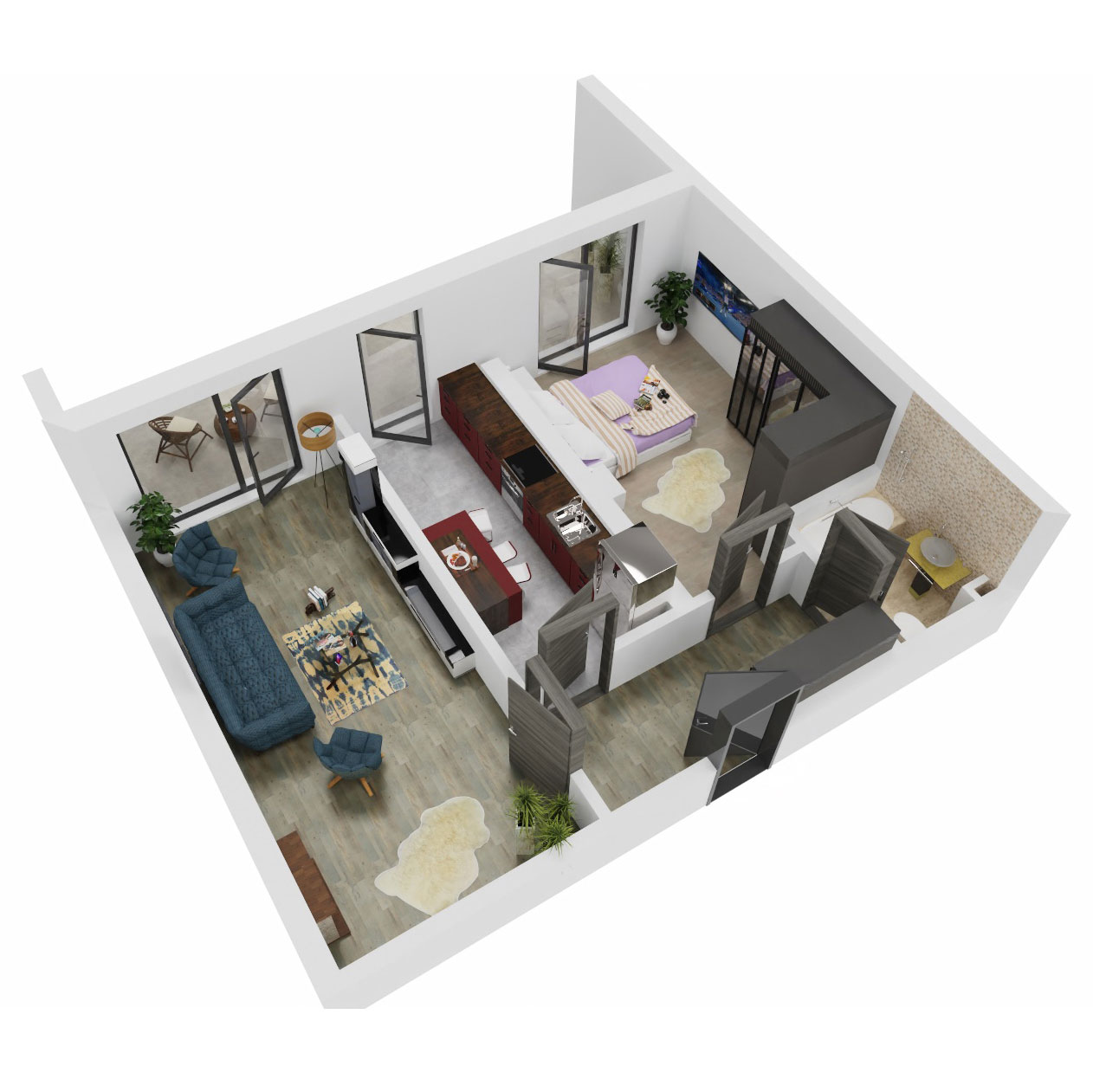Apartament 2 camere de vanzare Bucuresti - Uverturii Residence - Militari - Lujerului - Gorjului - Tip 13 - T3 - C
