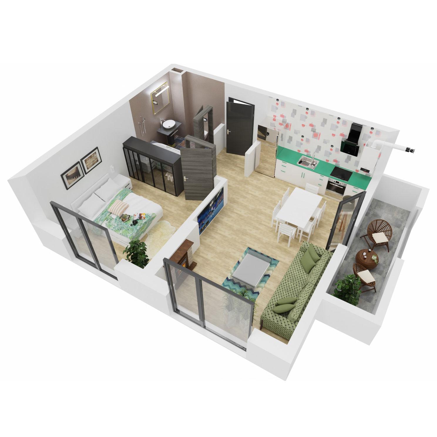 Apartament 2 camere de vanzare Bucuresti - Uverturii Residence - Militari - Lujerului - Gorjului - Tip 2 - T3 - A