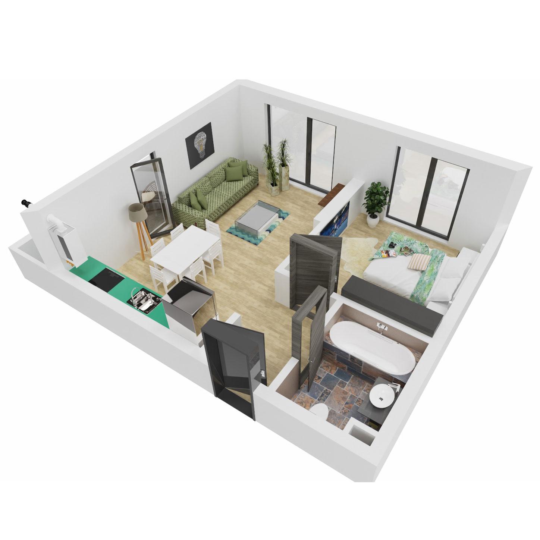Apartament 2 camere de vanzare Bucuresti - Uverturii Residence - Militari - Lujerului - Gorjului - Tip 2 - T3 - B
