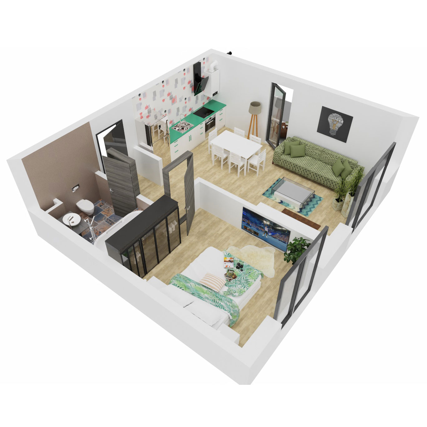 Apartament 2 camere de vanzare Bucuresti - Uverturii Residence - Militari - Lujerului - Gorjului - Tip 2 - T3 - C