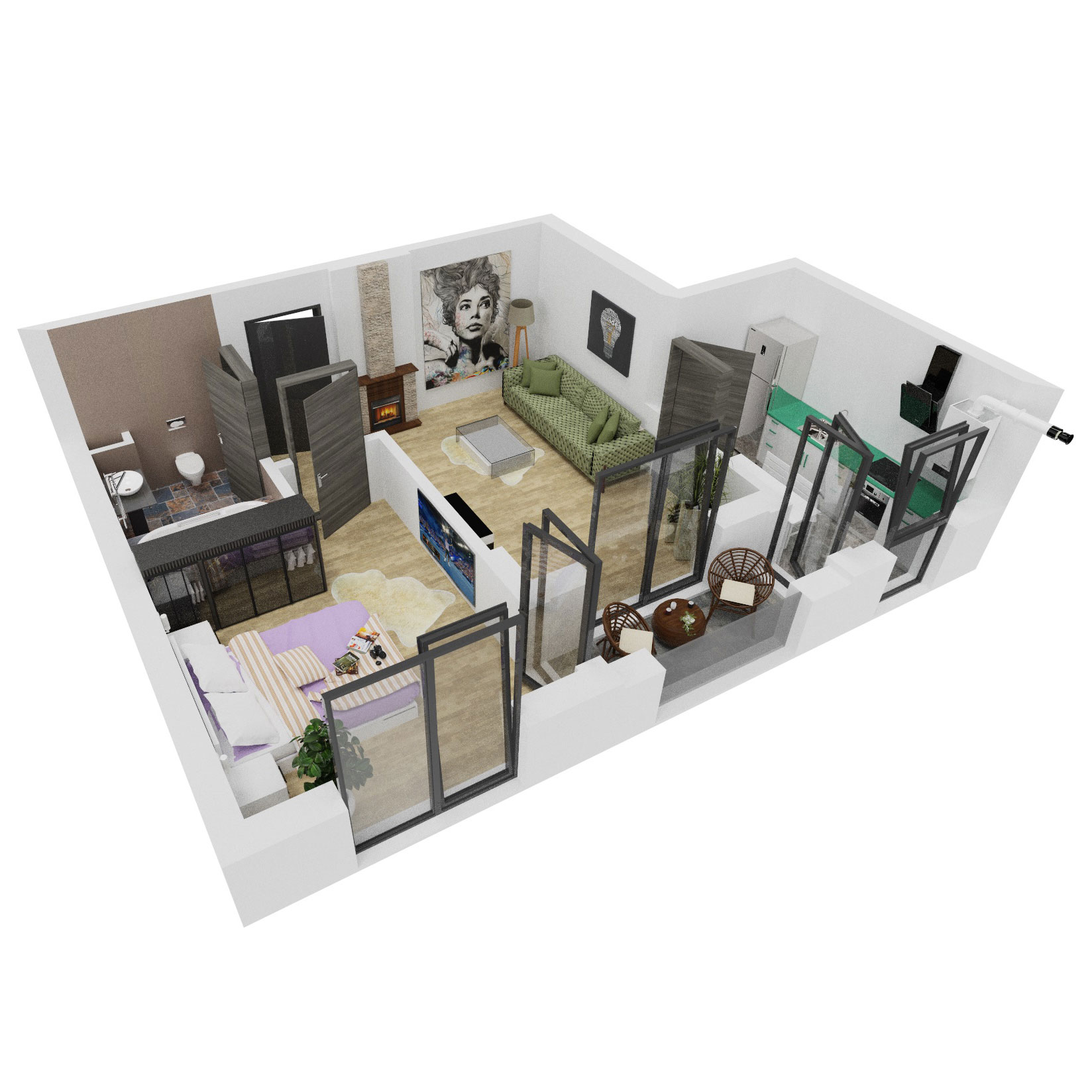 Apartament 2 camere de vanzare Bucuresti - Uverturii Residence - Militari - Lujerului - Gorjului - Tip 3 - T3 - A