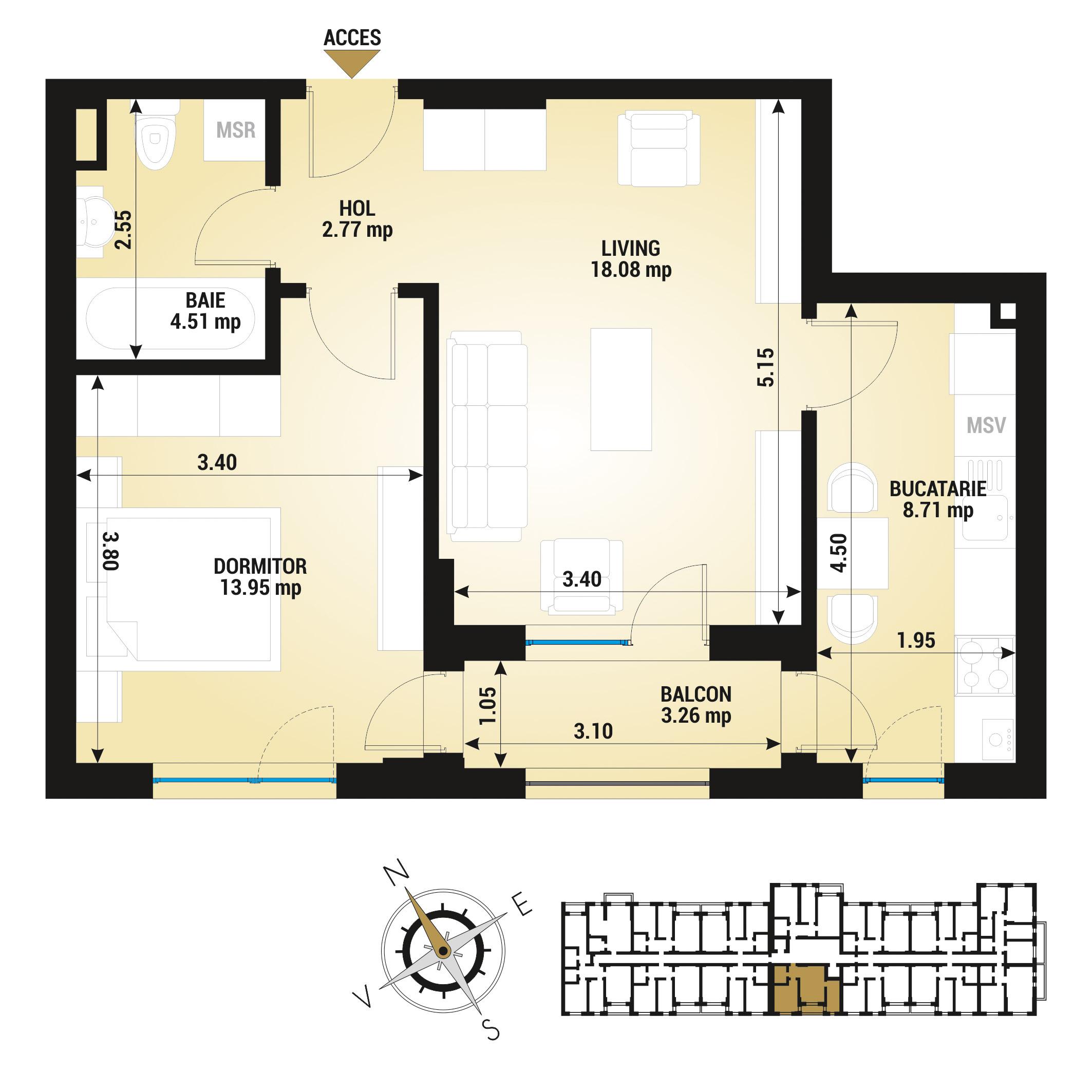 Apartament 2 camere de vanzare Bucuresti - Uverturii Residence - Militari - Lujerului - Gorjului - Tip 3 - T3