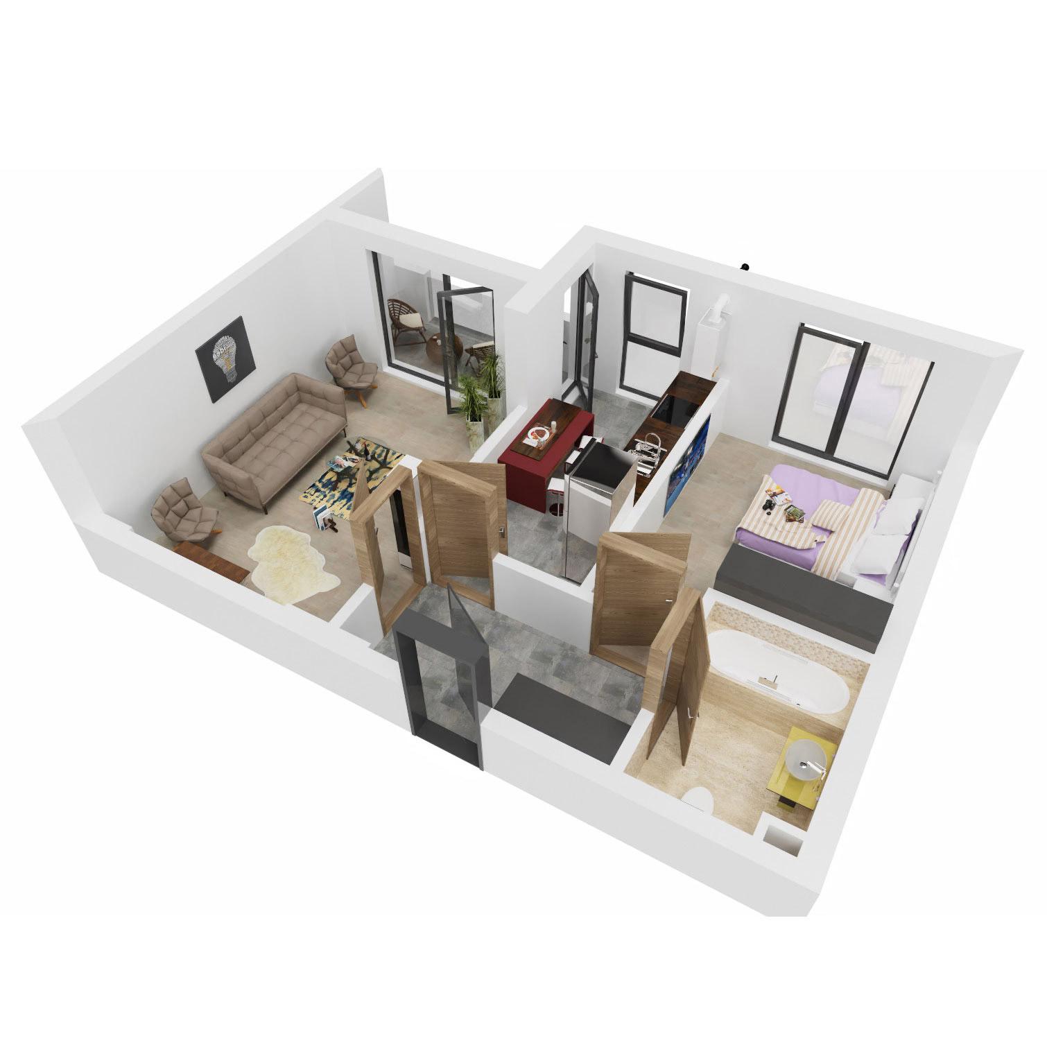 Apartament 2 camere de vanzare Bucuresti - Uverturii Residence - Militari - Lujerului - Gorjului - Tip 4 - T3 - B