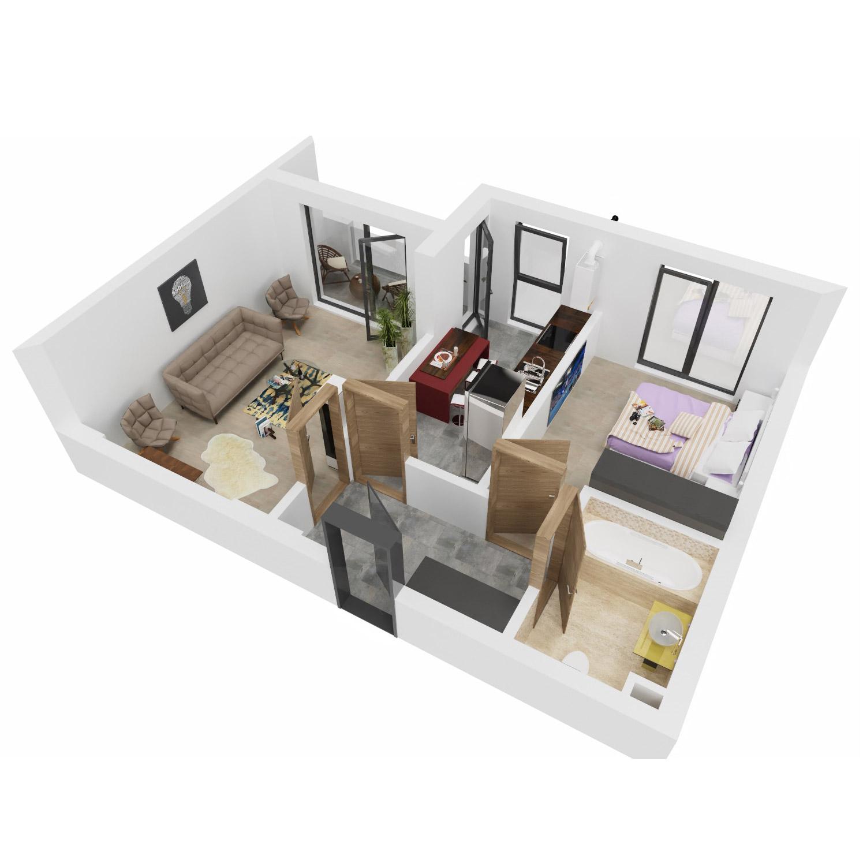 Apartament 2 camere de vanzare Bucuresti - Uverturii Residence - Militari - Lujerului - Gorjului - Tip 5D - T1 - B