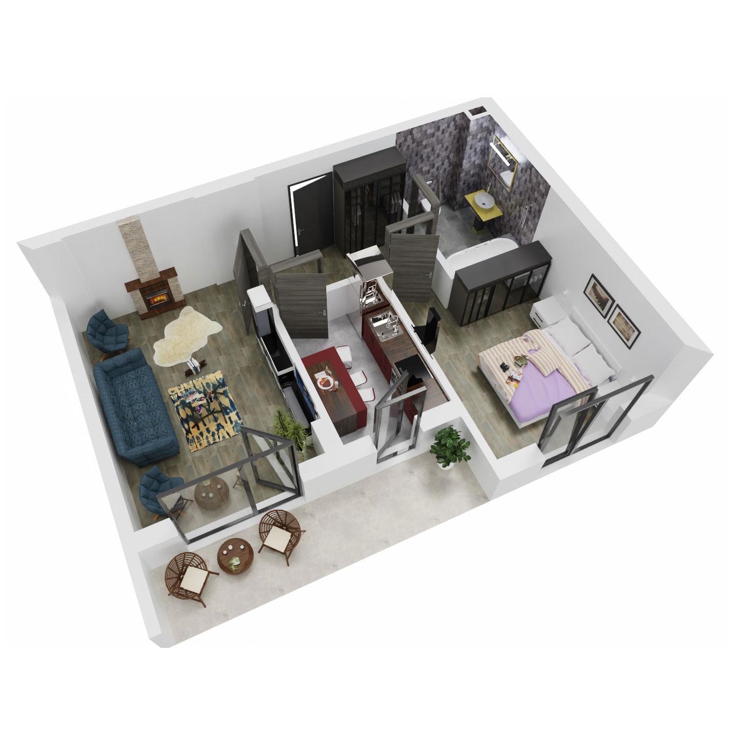 Apartament 2 camere de vanzare Bucuresti - Uverturii Residence - Militari - Lujerului - Gorjului - Tip 7 - T3 - A