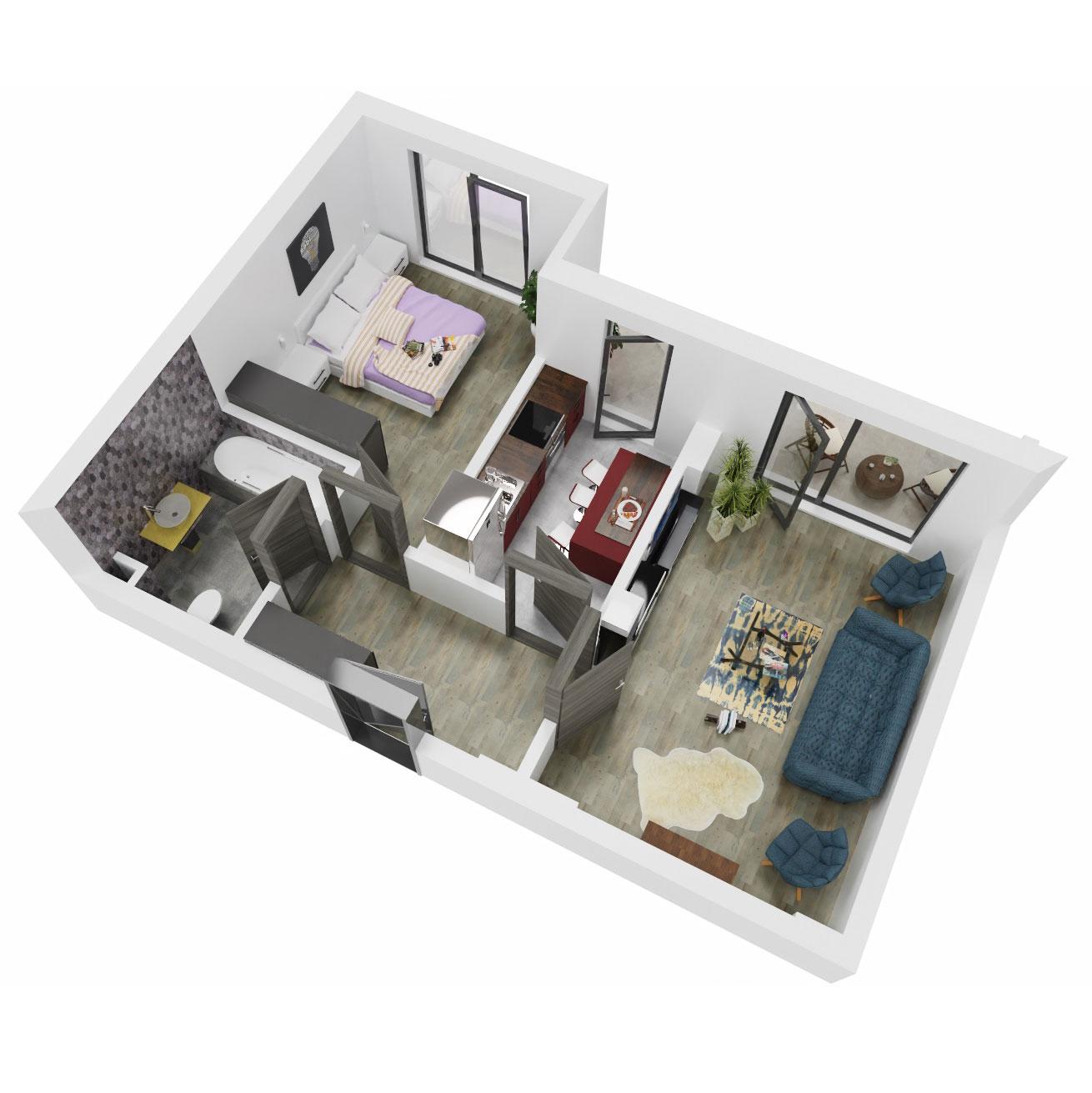 Apartament 2 camere de vanzare Bucuresti - Uverturii Residence - Militari - Lujerului - Gorjului - Tip 7 - T3 - C