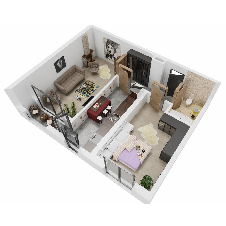 Apartament 2 camere de vanzare Bucuresti - Uverturii Residence - Militari - Lujerului - Gorjului - Tip 8 - T3 - A