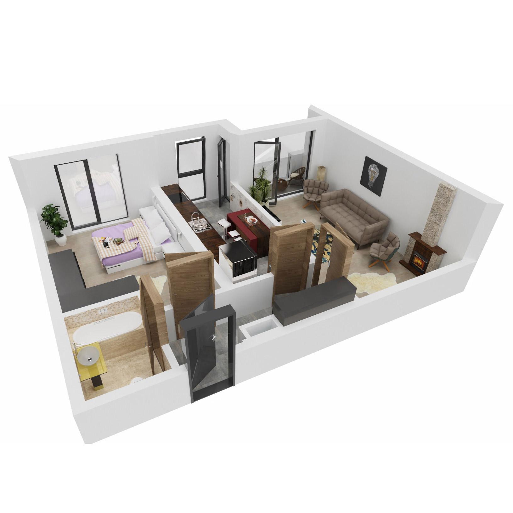 Apartament 2 camere de vanzare Bucuresti - Uverturii Residence - Militari - Lujerului - Gorjului - Tip 8 - T3 - C