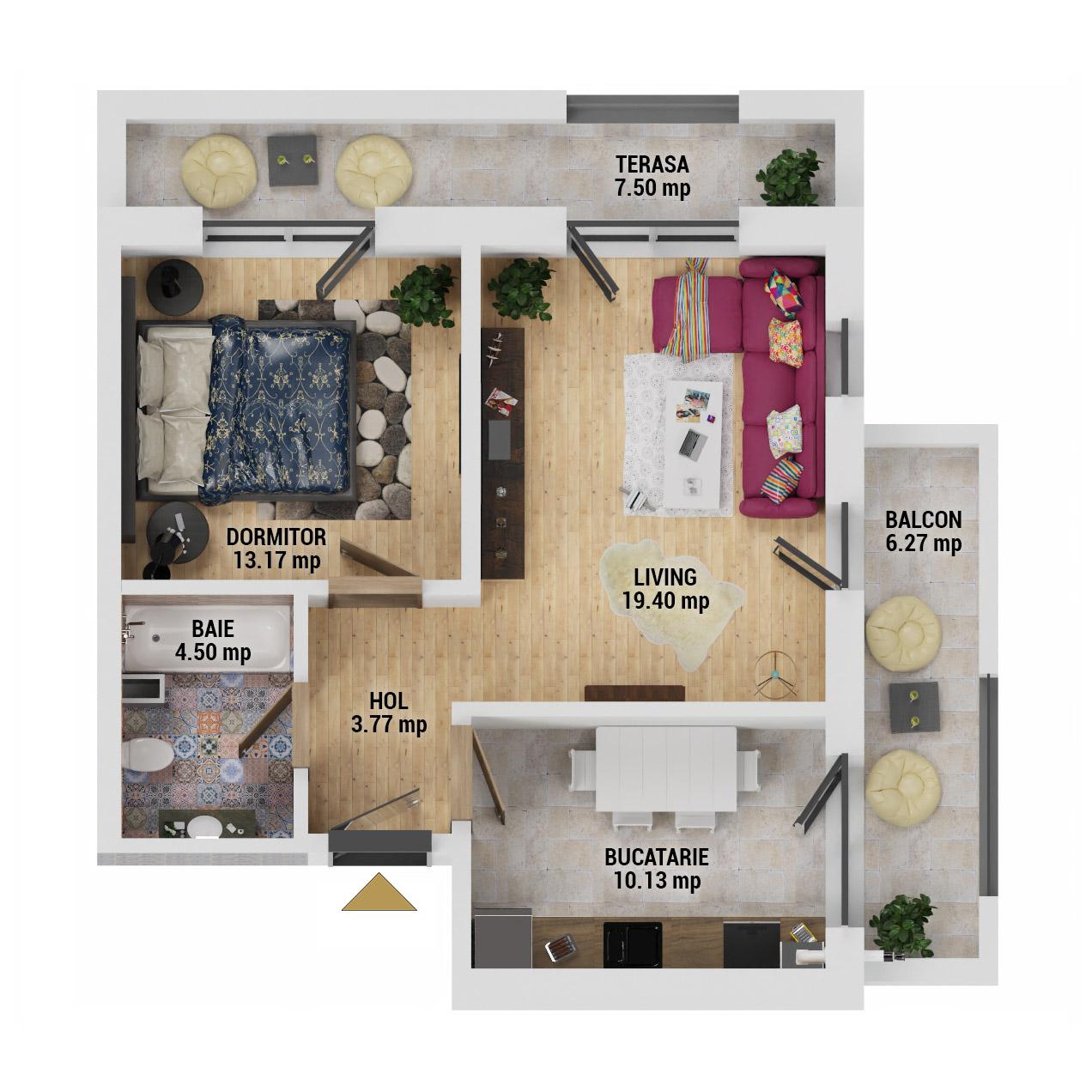 Apartament 2 camere de vanzare Bucuresti - Uverturii Residence - Militari - Lujerului - Gorjului - Tip 9 - T3 - E