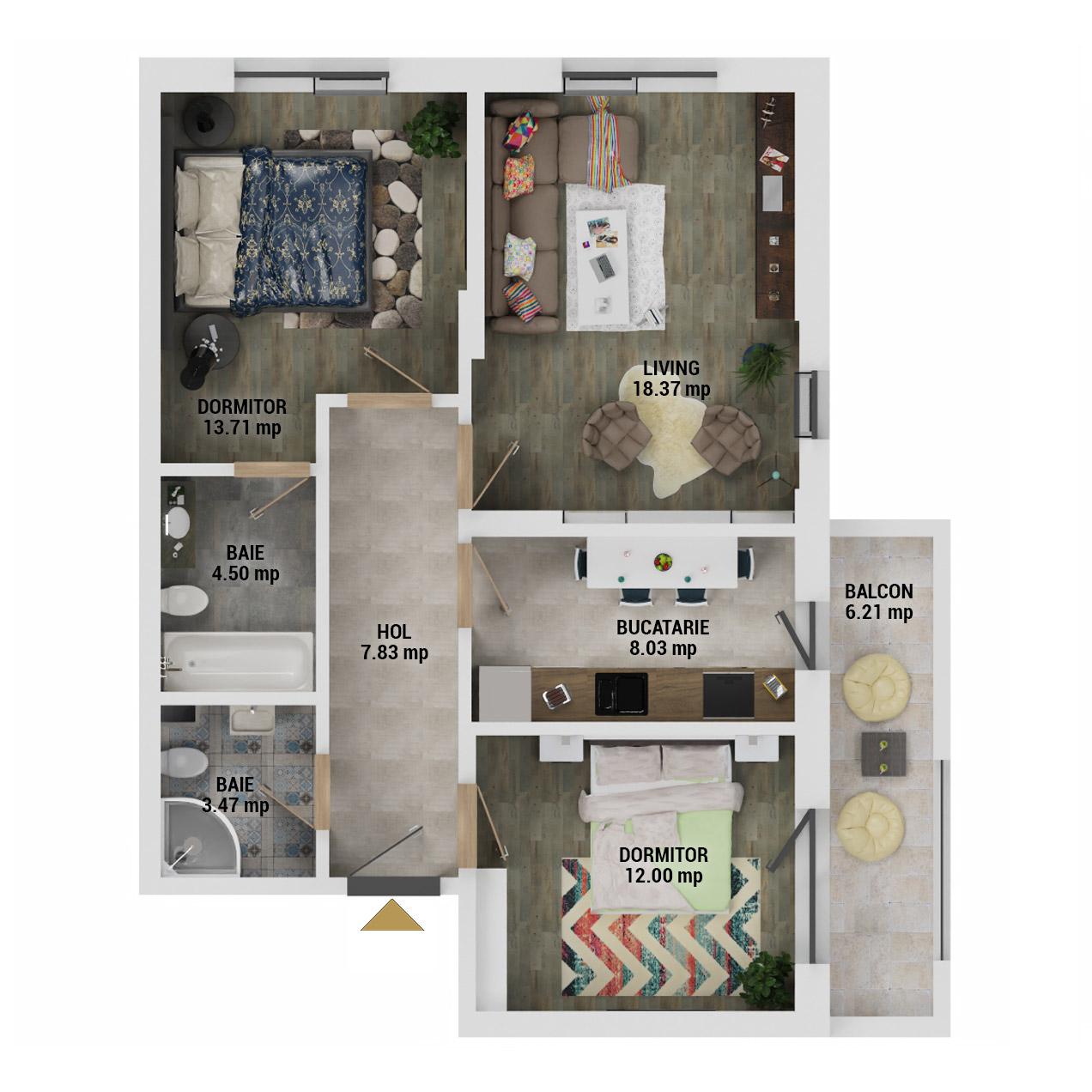 Apartamente 3 camere de vanzare Bucuresti - Uverturii Residence - Militari - Lujerului - Gorjului - Tip 3 - T3 - E