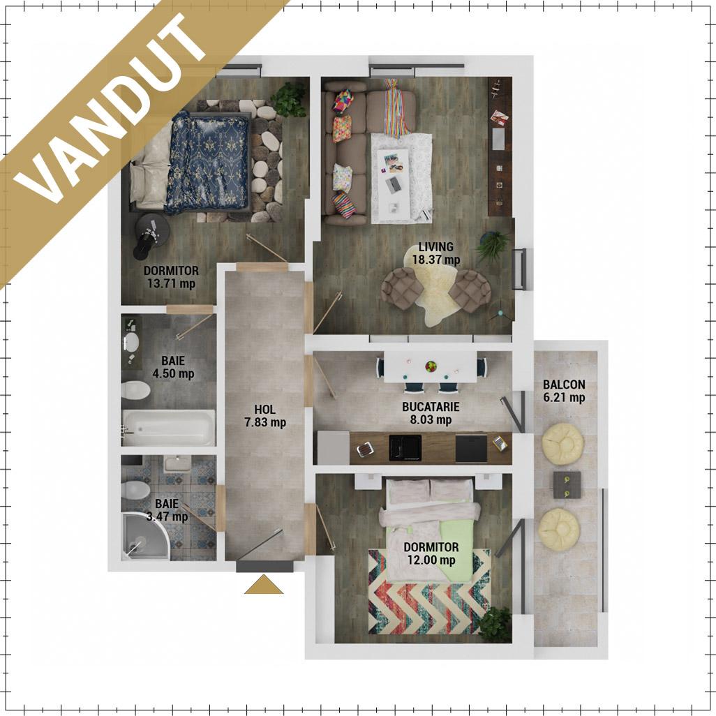 Apartamente 3 camere de vanzare Bucuresti - Uverturii Residence - Militari - Lujerului - Gorjului - Tip 3 - T3 - FV