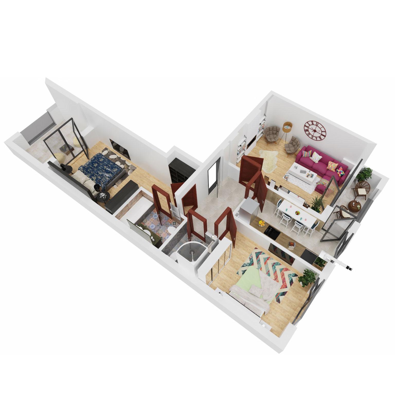 Apartamente 3 camere de vanzare Bucuresti - Uverturii Residence - Militari - Lujerului - Gorjului - Tip 5 - T3 - B