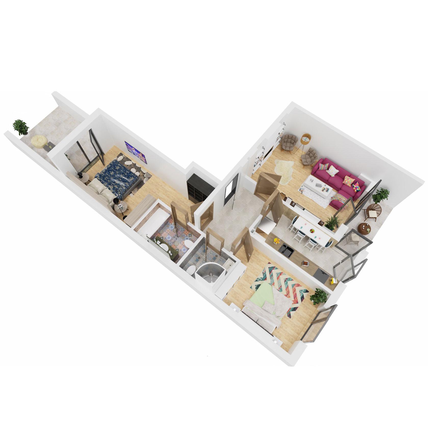 Apartamente 3 camere de vanzare Bucuresti - Uverturii Residence - Militari - Lujerului - Gorjului - Tip 6 - T3 - B