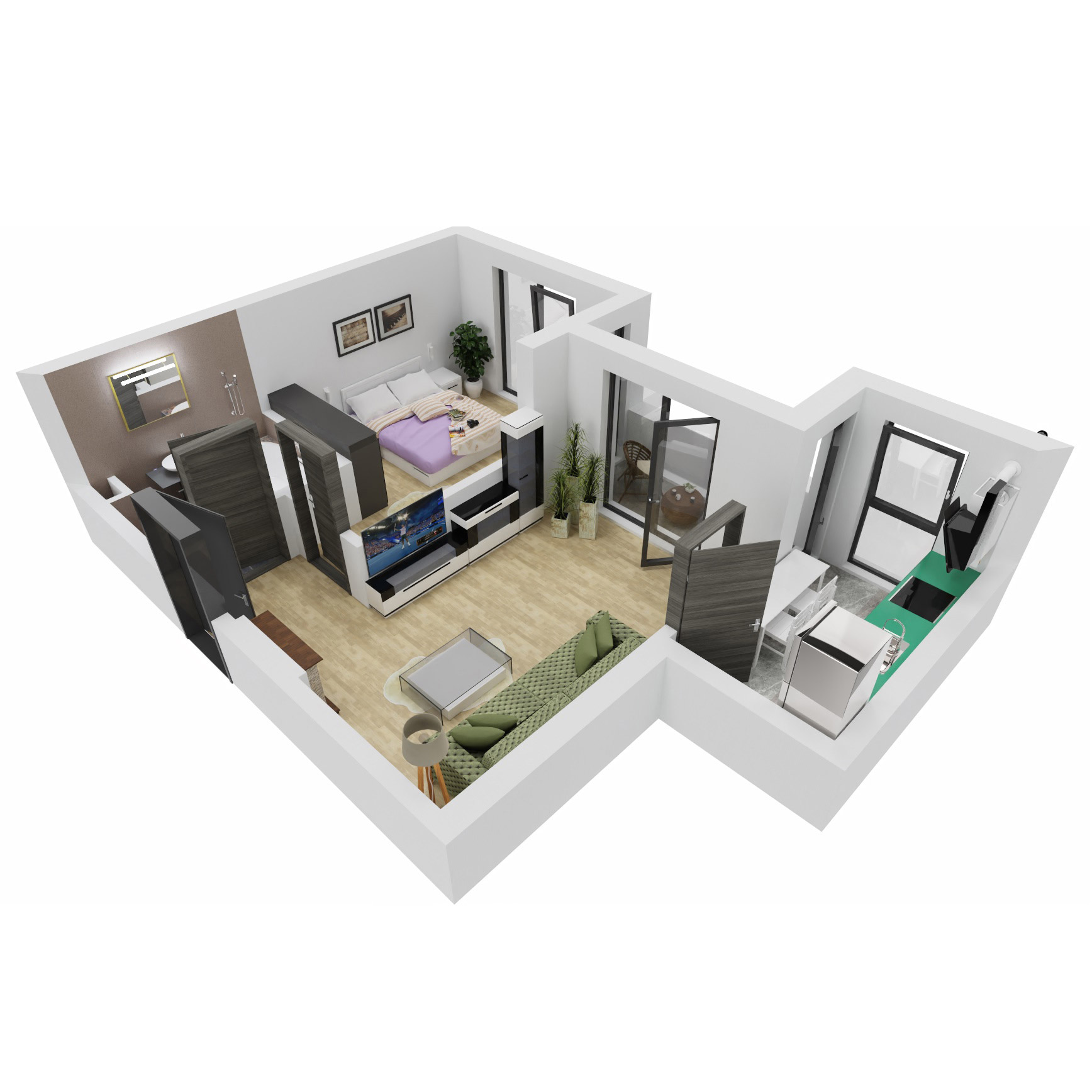 Apartament 2 camere de vanzare Bucuresti - Uverturii Residence - Militari - Lujerului - Gorjului - Tip 3 - T2 - B