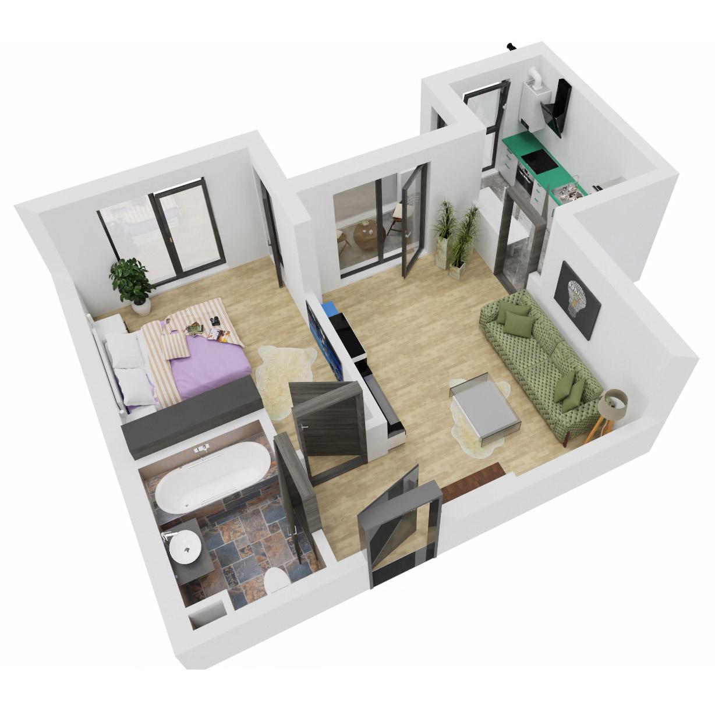 Apartament 2 camere de vanzare Bucuresti - Uverturii Residence - Militari - Lujerului - Gorjului - Tip 3 - T2 - C
