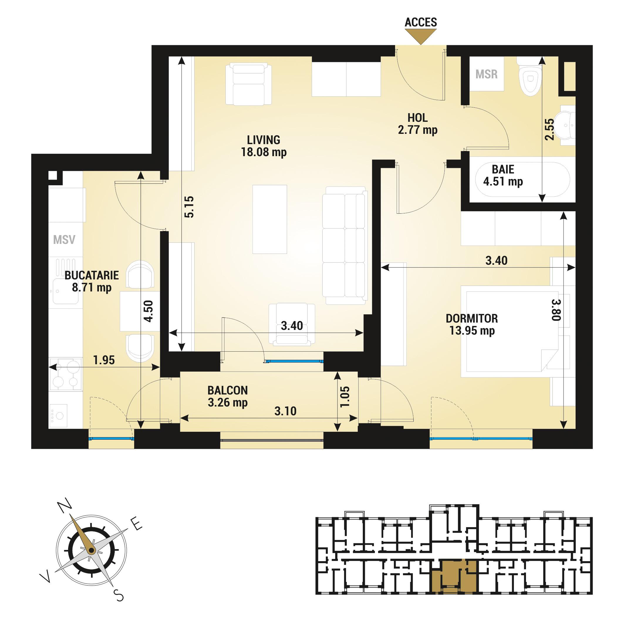 Apartament 2 camere de vanzare Bucuresti - Uverturii Residence - Militari - Lujerului - Gorjului - Tip 3 - T2