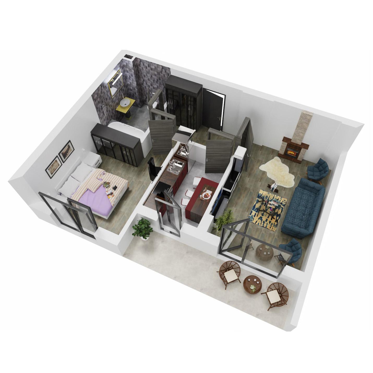 Apartament 2 camere de vanzare Bucuresti - Uverturii Residence - Militari - Lujerului - Gorjului - Tip 7 - T2 - A