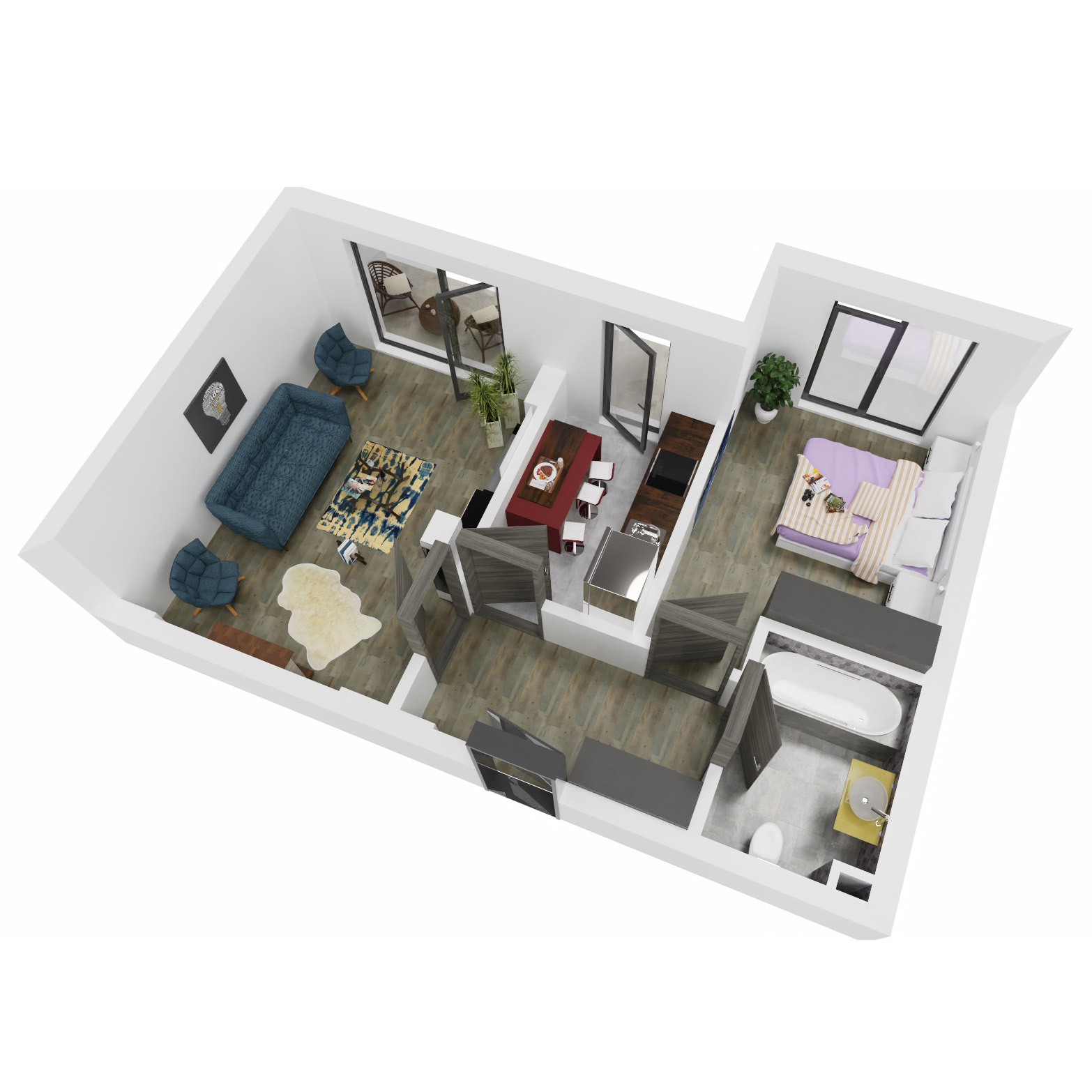 Apartament 2 camere de vanzare Bucuresti - Uverturii Residence - Militari - Lujerului - Gorjului - Tip 7 - T2 - B