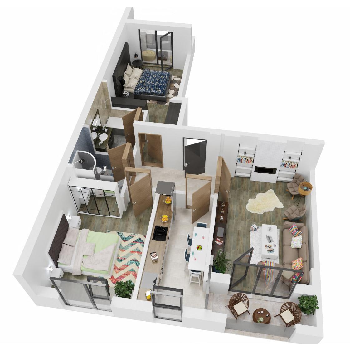 Apartament 3 Camere de vanzare Bucuresti - Uverturii Residence - Militari - Lujerului - Gorjului - Tip 3 - T2 - C
