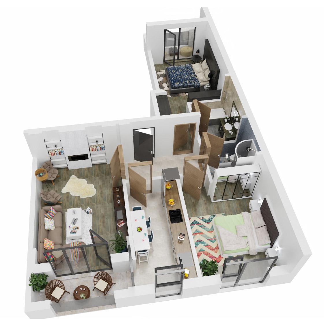 Apartamente 3 camere de vanzare Bucuresti - Uverturii Residence - Militari - Lujerului - Gorjului - Tip 4 - T2 - C