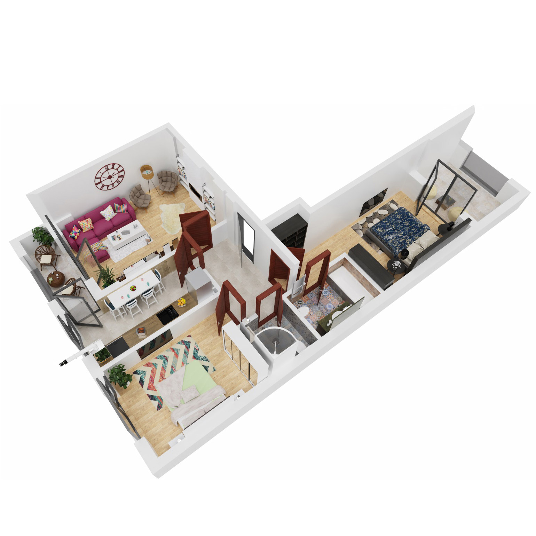 Apartamente 3 camere de vanzare Bucuresti - Uverturii Residence - Militari - Lujerului - Gorjului - Tip 6 - T2 - B